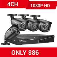 SANNCE RU liquidación 1080P 4CH sistema de seguridad CCTV 4 Uds 1080P exterior cámara a prueba de intemperie casa Video vigilancia Cámara Kit
