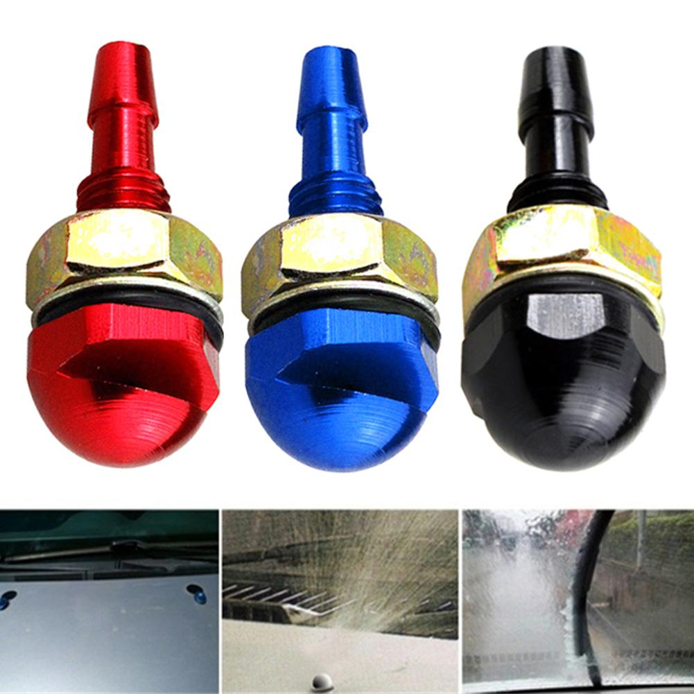 Otomobiller ve Motosikletler'ten Ön Cam Sileceği Üfleme Kabı Filtresi'de 2 adet/takım araba evrensel cam yıkama silecek su musluğu püskürtme memesi Jetcar cam temizleme yağmurlama kapağı memesi title=
