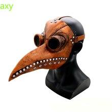 Purim Plague Doctor Latex Mask Masquerade Mascara Long Nose Beak Bird Crow Cosplay Steampunk Halloween Accessories