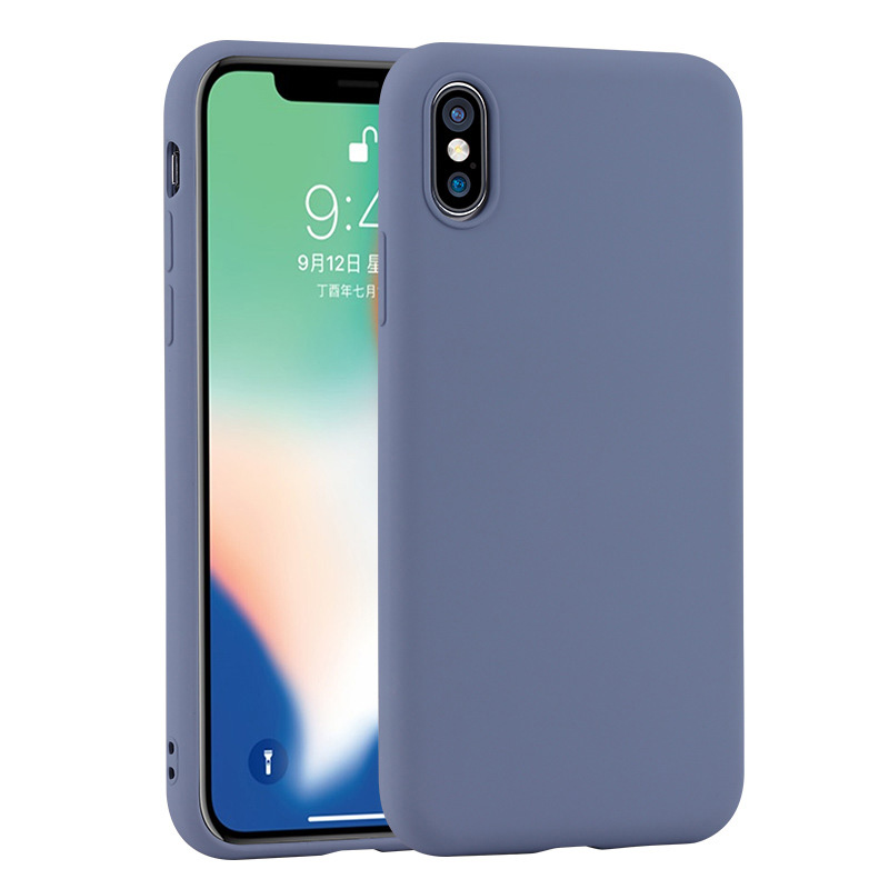 For Apple <font><b>iPhone</b></font> X XS Max XR <font><b>8</b></font> 7 6 6s Plus New Thin Soft <font><b>Original</b></font> Liquid Silicone <font><b>Case</b></font> Silica Gel Cover Coque Capa image