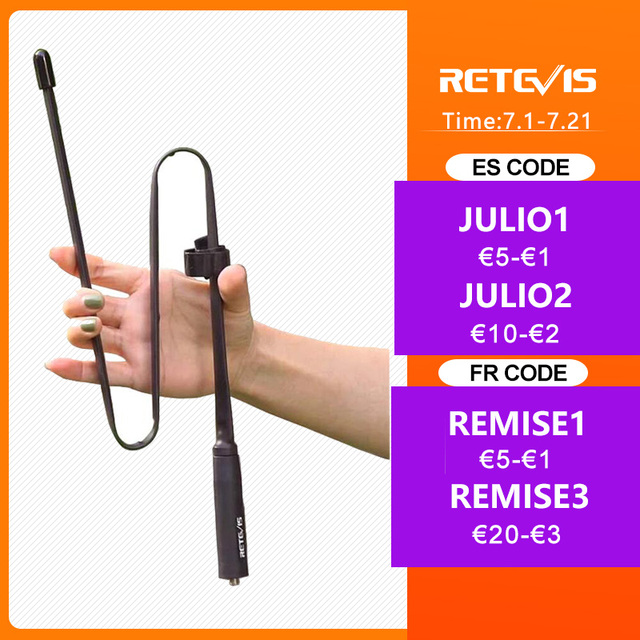 Retevis HA02 Foldable Tactical Antenna SMA-F Airsoft Game Walkie Talkie Antenna For Baofeng UV-5R UV-82 Ailunce HD1 RT29 H777 1