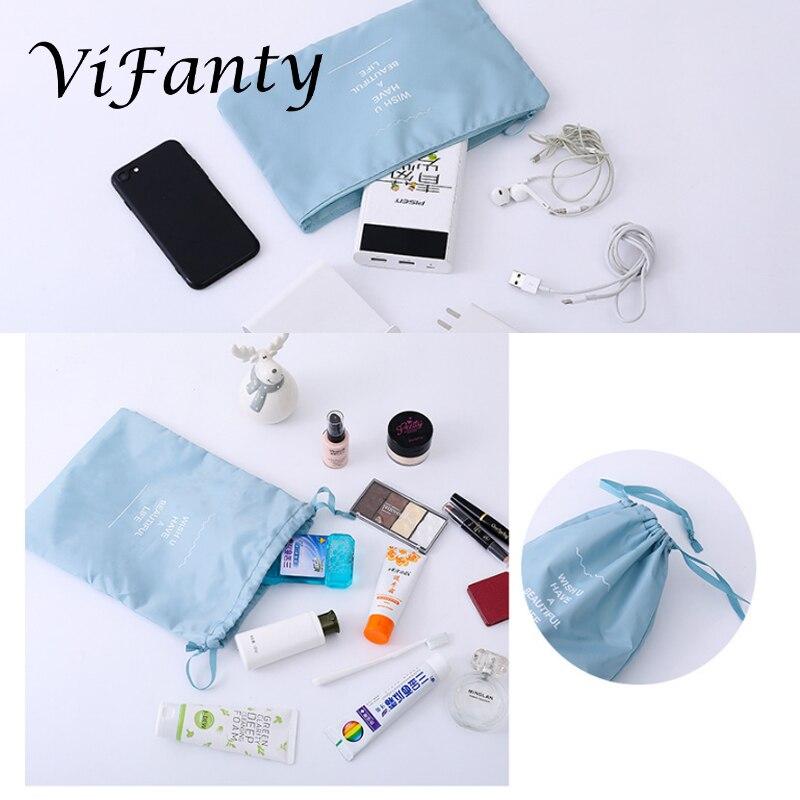 Image 3 - Vifanty 6 комплектов упаковочных кубиков, различные размеры дорожный мешочек для багажа органайзеры с сумкой на шнурке-in Принадлежности для путешествия from Багаж и сумки