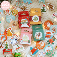 M 45pcs/pack Merry Christmas Ring Bells Candy Tree Stickers Little Box DIY Father Deco
