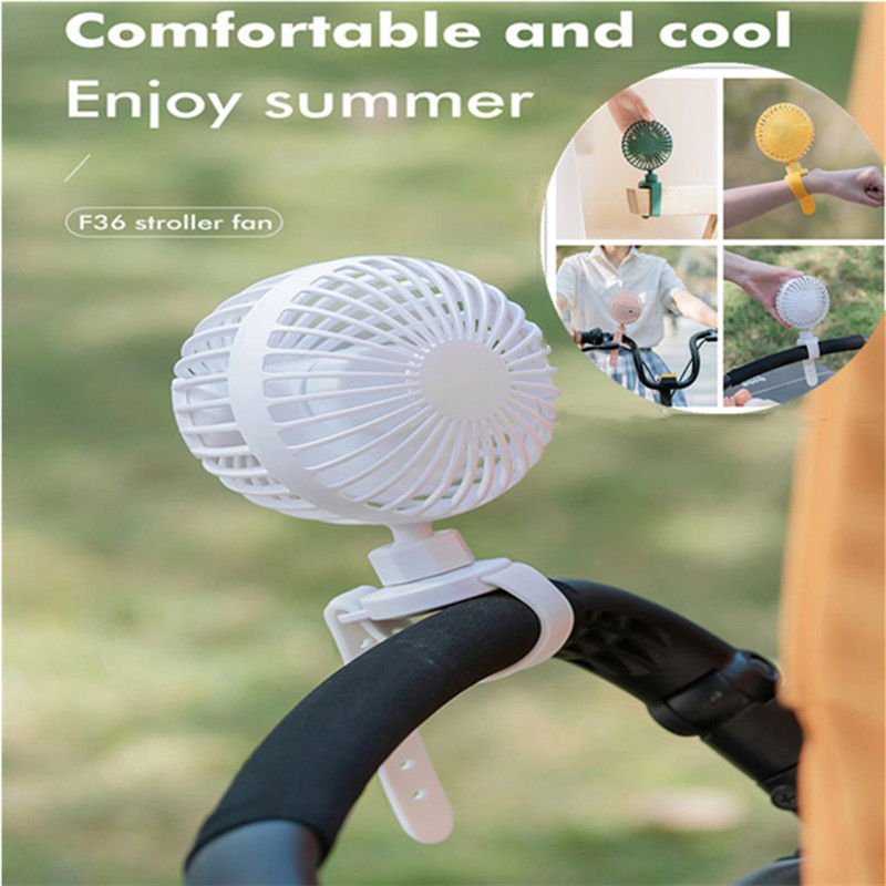 Mini Portable Stroller Fan Cooling Baby Carriage 360° Rotating Usb Charge Outdoor Summer Aromatherapy Clip Fan Wrist Cooler 2021