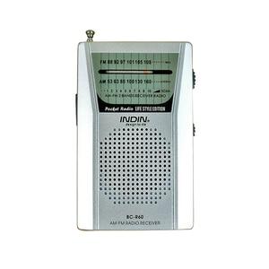 Image 2 - 3.5mm kulaklık jakı taşınabilir BC R60 cep radyo teleskopik anten Mini radyo dünya alıcısı hoparlör