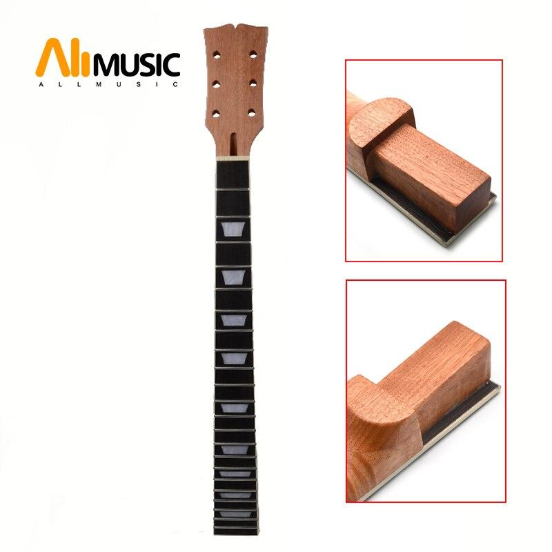 Secteur de touche en palissandre acajou LP et incrustation de reliure pour remplacement de cou de guitare électrique LP