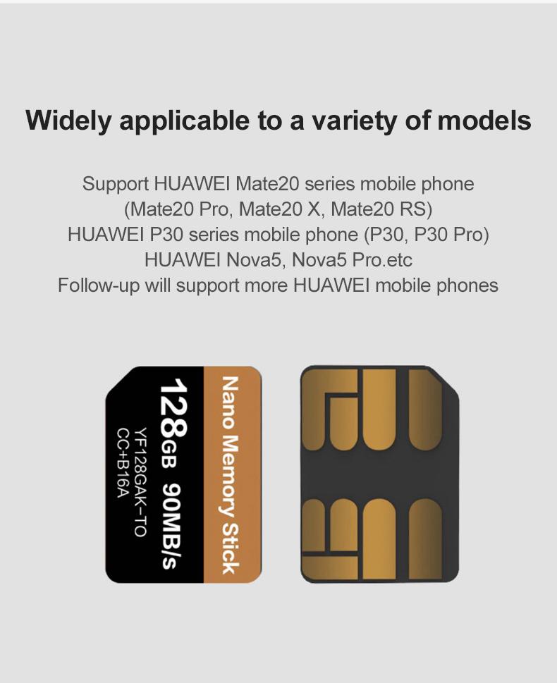 UTHAI J39 NM 90 MB/S 128GB Nano tarjeta de memoria 3