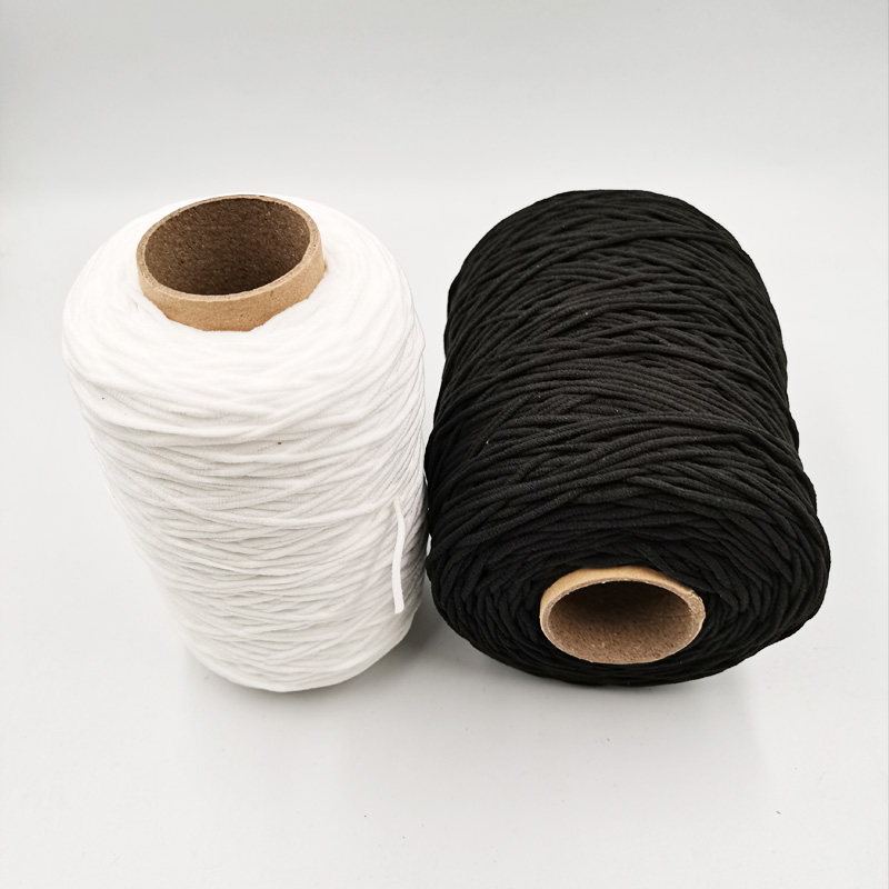 3MM White Black Thin Round Elastic Bands Elastic Rope For Masks Garment Reel Elastic Tape For DIY Sewing Craft Accessories
