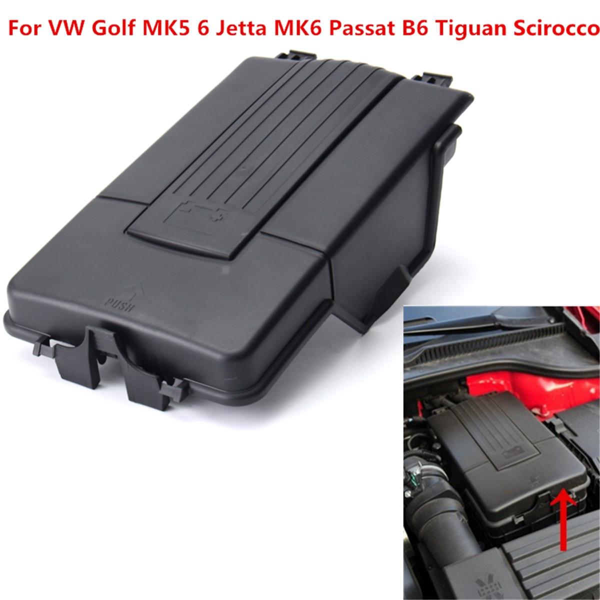 แบตเตอรี่ใหม่ฝาปิดด้านบนถาดเหมาะสำหรับ VW Golf MK5 6 Jetta MK6 Passat B6 Tiguan Scirocco พลาสติก 1K0 915 443