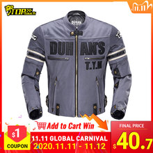 DUHAN Summer Motorcycle Jacket Mens Breathable Chaqueta Moto Jacket Mesh Riding Jacket Motorcycle With Removable Protector