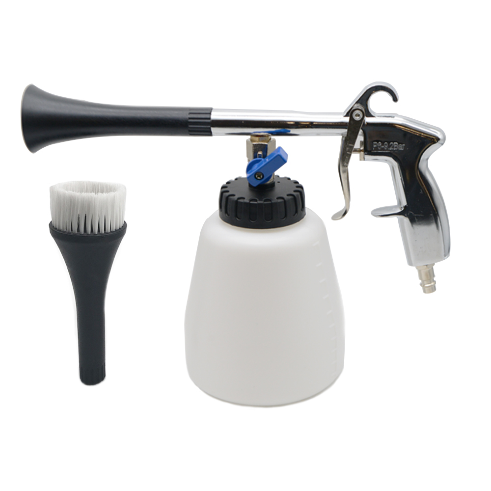 Car Dry Cleaning Gun High Pressure Washer Water Gun Interior Dry Cleaning With Brush For Car Wash Cleaning Tools