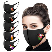 5pc adulto natal máscara de boca unissex festa máscara facial lavável segurança tampas de proteção boca gelo slik algodão mascarilla bocas