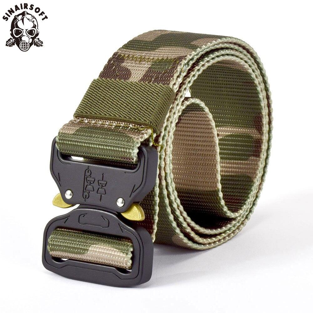 Attrezzature militari Army Tactical Cintura Regolabile Degli Uomini Addensare Fibbia In Metallo di Nylon Robusto Cintura di Combattimento Cinture Multicam USNC Airsoft