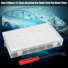 240 Pcs Plastic Buckle Push Pin Rivet Car Push Retainers Kit Car Buckle Set Bumper Plastic Buckle Strong Flexibility