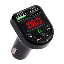 Car MP3 Player Bluetooth FM Transmitter Support TF Card/U Disk Dual USB Charger Handsfree Car Kit FM Modulator