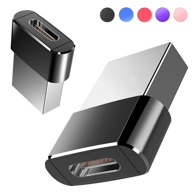 В наличии USB к Тип-конвертер адаптер USB 2,0 адаптер штепсельной вилки Портативный Мини компьютер телефонный адаптер мобильный телефон Конвер...