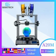 Stampante 3D Geeetech A20M 2 in 1 Mix-color FDM CE assemblaggio rapido con fetettore di filamenti e stampante 3D a colori misti a scatto