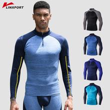 Koszulki do fitnessu męskie Rashguard koszulka sportowa koszulki z krótkim rękawem koszulki do biegania bielizna termiczna mężczyźni odzież sportowa odzież sportowa kompresyjna tanie tanio Linxport CN (pochodzenie) Wiosna summer AUTUMN Winter Poliester Pasuje prawda na wymiar weź swój normalny rozmiar 100 Brand New and High Quality