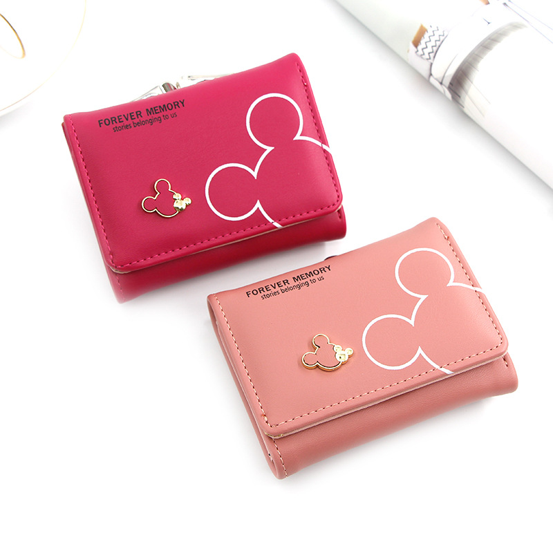 2020 Women's Wallet Short Wallets For Women Coin Purse Zipper Mouse Wallet Ladies Card Holder Luxury Small Clutch Wallets Bag