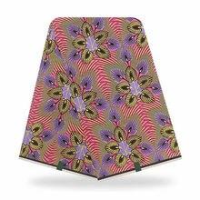 アンカラ生地保証正真正銘のワックス綿100% 生地6ヤード/ピース服ナイジェリアの生地パッチワーク縫製