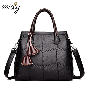 Women Genuine Leather Handbag Fashion Female Crossbody Bags Casual Tassel Women Shoulder Bag Large Capacity Zipper Tote Bags