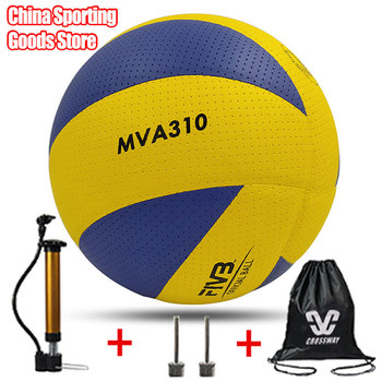 Classic volleyball, mva310, special for training, microfiber, Pu soft volleyball, high quality, free air pump + air needle + bag classic volleyball mva310 special for training microfiber pu soft volleyball high quality free air pump air needle bag
