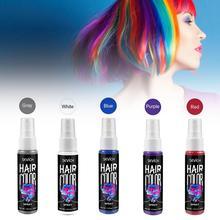 30 мл временный спрей краска для волос Жидкая краска для волос унисекс цветная краска для волос красный/серый мгновенный цветной краситель легко использовать инструменты для укладки волос