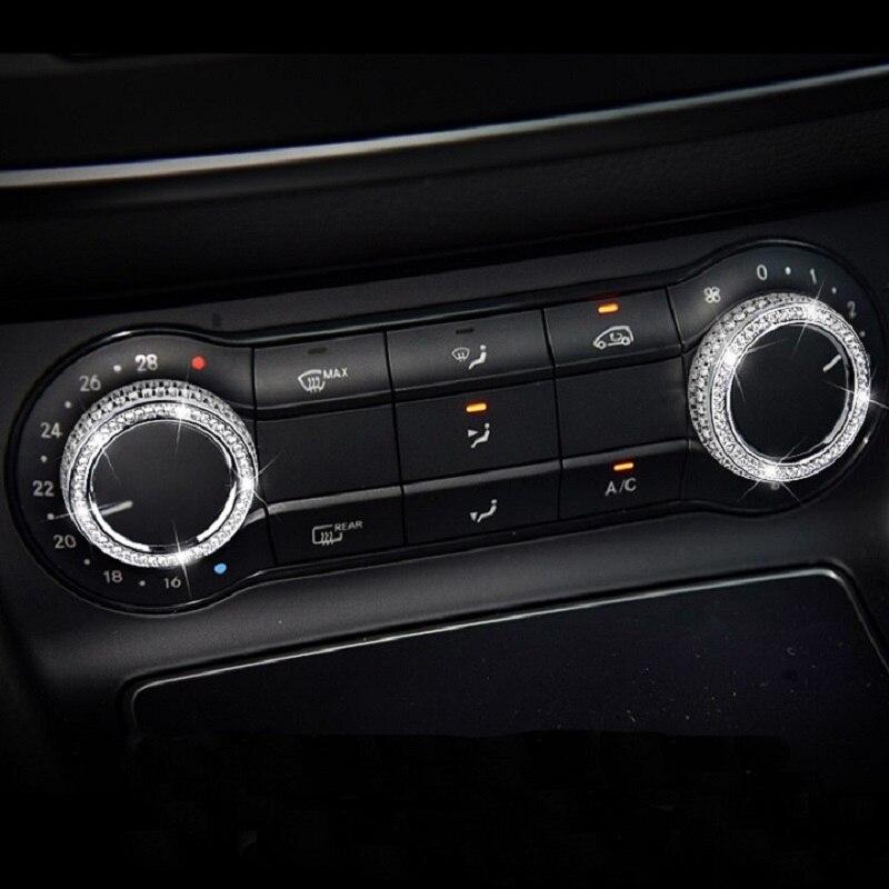 Diamond Interior Control Car Decoration For Mercedes-Benz GLA200 CLA220 CLA260 CLA200 Modified Interior Control Car Decoration