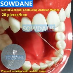 Tandheelkundige Sectionele Voorgevormd Matrice Dental Transparant Proximale Anterior Matrix Tandheelkundige Strips Cervicale Matrices Tandarts Materiaal