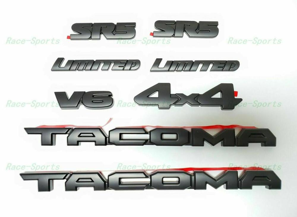 weekeight 3PCS FOR Tacoma 2016-2019 Blackout Emblem Overlays ABS Plastic OEM PT948-35180-02