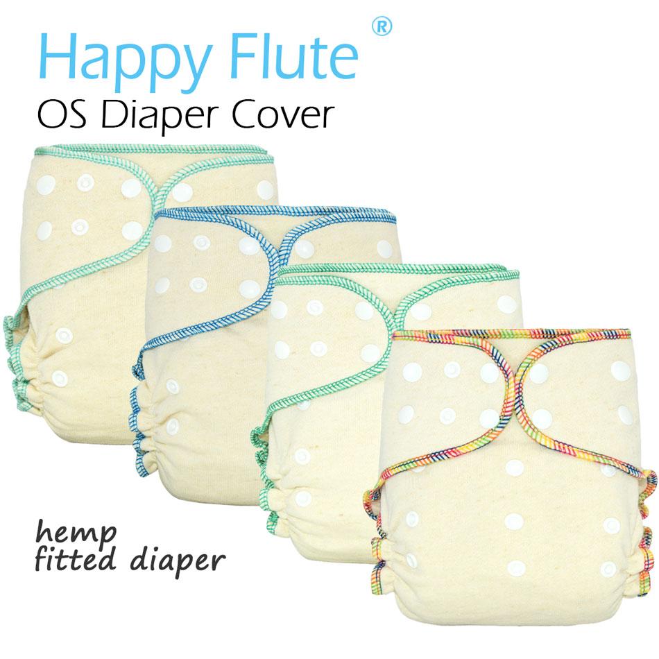 Happyflute os cânhamo cabido pano fralda, aio cada fralda com uma inserção instantânea, alta absorção, ajuste bebê 5-15kgs