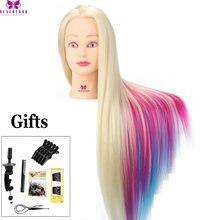 Кукла манекен для причесок с длинными густыми волосами 70 см