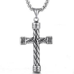 Ожерелье с крестом из нержавеющей стали, мужское ожерелье, ожерелье, вера в крест, цепи, ожерелье, хип-хоп ювелирные изделия для мужчин