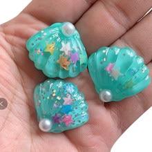 5 sztuk DIY szlam dostarcza powłoki perła rzemiosła żywiczne materiały wypełniające gliny dekoracji lalki biżuteria akcesoria zabawki dla dzieci prezent