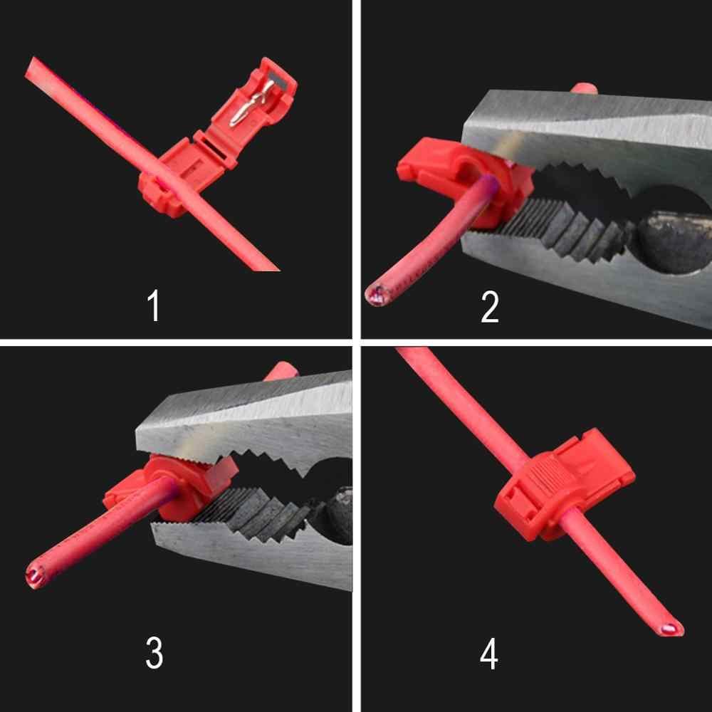 Końcówki kabli drutowych Crimp scotchlok Quick Splice przewód elektryczny samochodowy sprzęt audio 18-14/12-10/22-18 AWG 0.5-6mm zestaw narzędzi