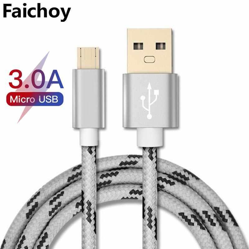 Cargador de Cable USB Micro para Samsung Galaxy S7 S6 de carga rápida Cable de carga de teléfono móvil para Huawei Xiaomi USB de la tableta Cable de alambre