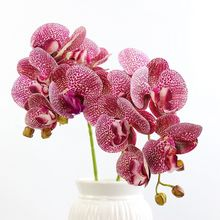 1 bunch (6 heads) plastic Butterfly orchid , used for home decoration, wedding decoration flower