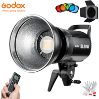 Godox SL60W Led Video Licht 5600K 60W CRI 95 + Bowens Berg mit Remote Controll & BD-04 Scheune tür Honeycomb Grid 4 Farbe Filter