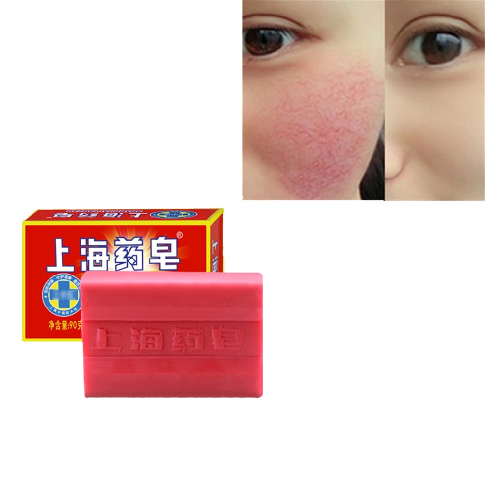 90g Shanghai Sulphur Soap Antibacterial And Anti-inflammatory Soap New Products Sales Acarid Removal Prevention Of Acne Red Spot