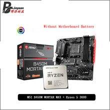 AMD Ryzen 5 3600 R5 3600 CPU + MSI B450M harç MAX anakartı takım soket AM4 CPU + anakart takım elbise olmadan soğutucu