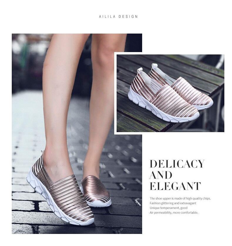 Women Flats Shoes Woman Loafers Slip-ons Platform Ballet Sneakers (9)
