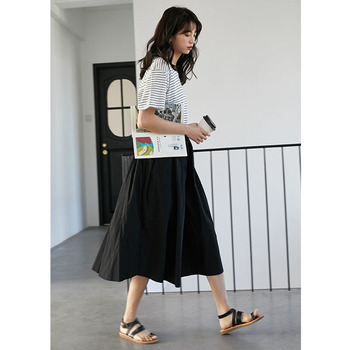 2020control The Crushed Degree Of Tightness Waist Pleated Skirt Long Fund Half-body Will Pendulum Favourite Fashion Chiffon 3