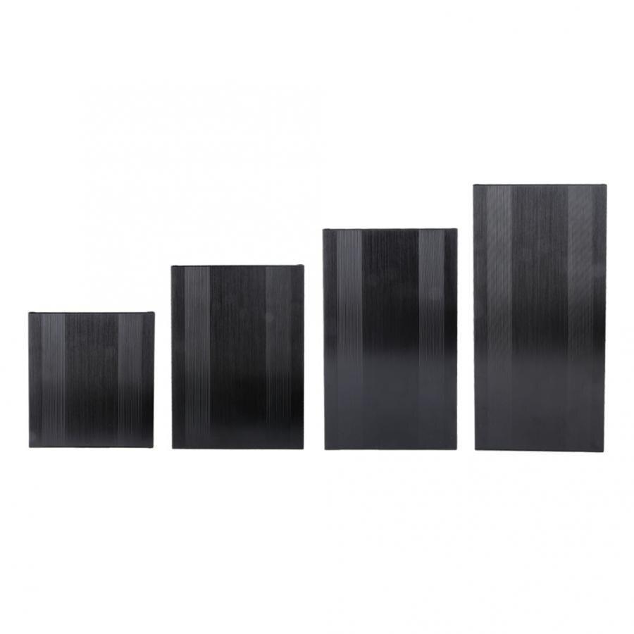 68*145*150/200/250/300mm Brushed Black Oxide Split Type Aluminum Cooling Case Enclosure Electronic Box For Amplifier GPS Wiring