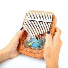Kalimba 17 anahtar başparmak piyano maun afrika Sanza Mbira klavye müzik Instrumentos yüksek kaliteli parmak piyano xmas hediye