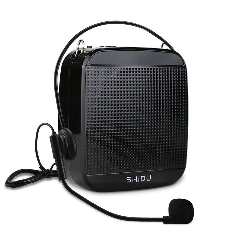 SHIDU 15W Voice Amplifier Wired Microphone Portable Full Range Audio Sound Speakers For Teachers Tour Guide Yoga Instructor S512