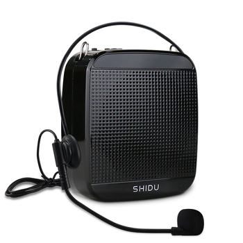 SHIDU 15W Voice Amplifier Wired Microphone Portable Full Range Audio Sound Speakers For Teachers Tour Guide Yoga Instructor S512 portable fm radio loudspeaker with microphone voice amplifier booster megaphone speaker for teaching tour guide sales promotion