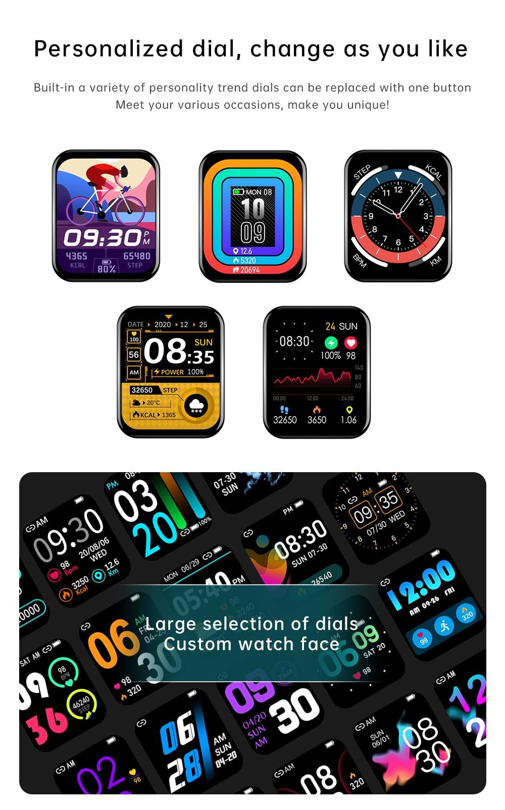 H262ecd3a131c4ec885a3a0d842310ca4K Reloj Inteligente Mujer Smartwatch Android Men 2021 Smart Watch Man Bluetooth Call Smartwatch Women For Xiaomi Mi Phone GTS 2