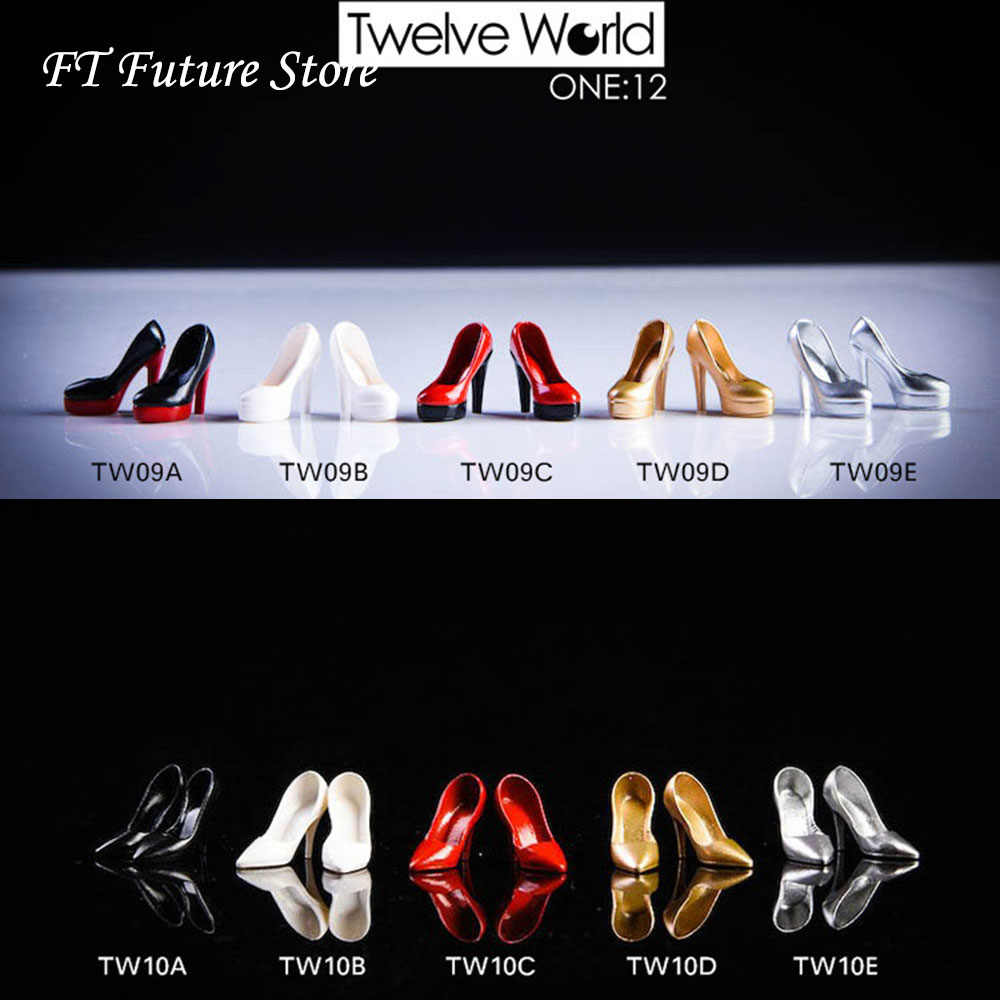 TWTOYS 1//12 Female Shoes Model High Heels Hollow F 6in PH Action Figure