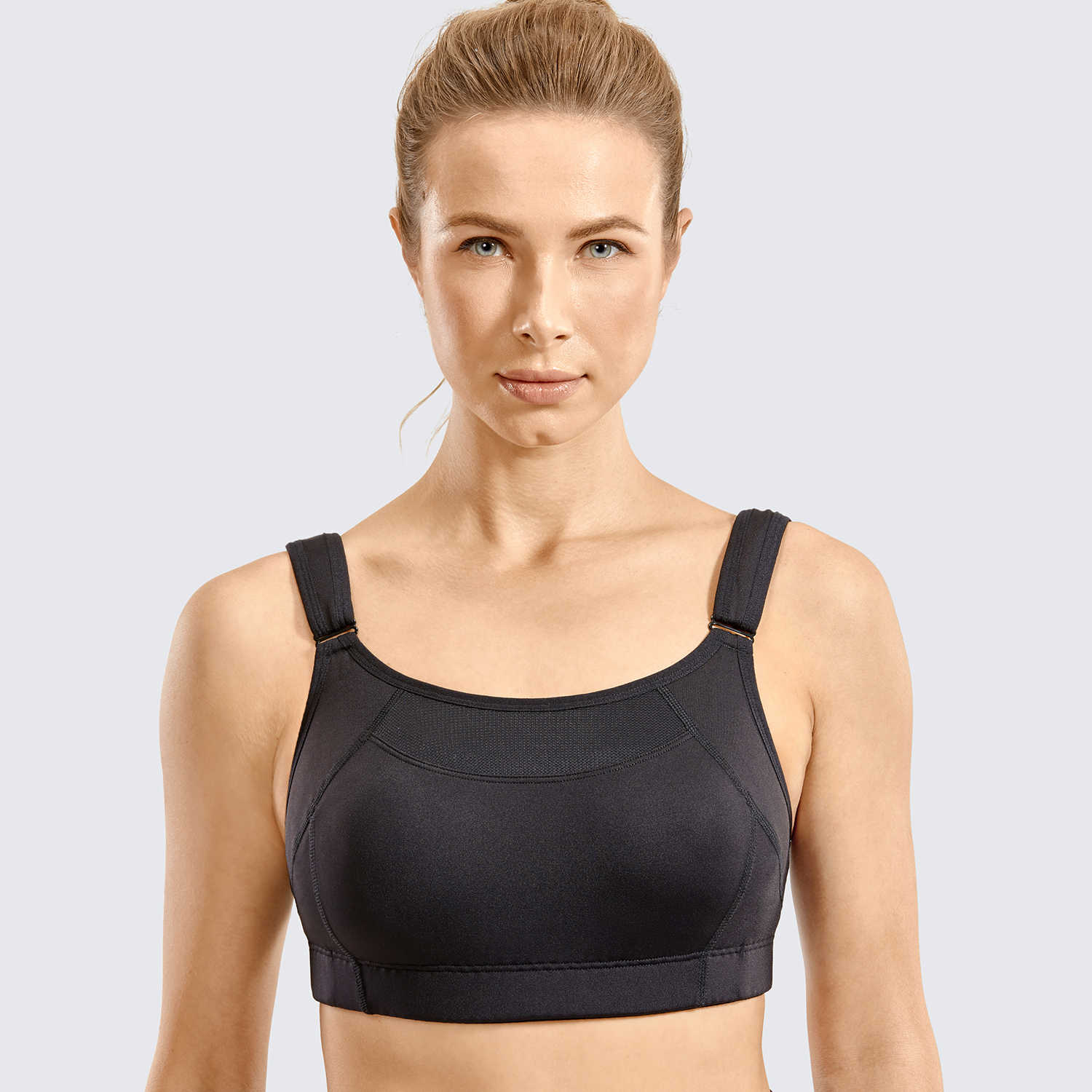 SYROKAN Womens Bounce Control Wirefree High Impact Maximum Support Sports Bra