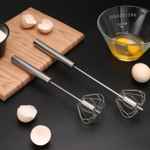 1 Pcs Stainless Steel Semi-automatic Egg Beater Whisk Manual Hand Mixer Self Turning Egg Stirrer Kitchen Egg Tools 2020 semi automatic egg beater 304 stainless steel egg whisk manual hand mixer self turning egg stirrer kitchen accessories egg tools